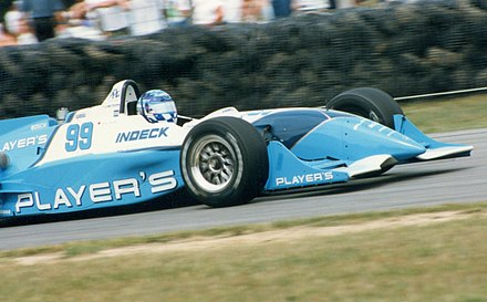 Greg Moore in a 1996 Reynard-Mercedes. Moore's death in 1999 left the series without one of it's rising stars. Greg-moore mid-hio-cart 08-10-1996.jpg