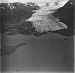 Grewingk Glacier, terminus of valley glacier with lateral moraine, September 4, 1977 (GLACIERS 6529).jpg