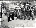 Group photo of Transit Commission inspection trip into the Boylston Street Subway, September 1914.jpg