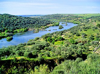 Guadiana - The River Guadiana in the area around Serpa, Portugal