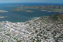 Aerial view of Guaymas