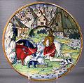 Gubbio, bottega di maestro giorgio andreoli, piatto con figliol prodigo, 1525.JPG
