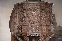 Carvings on the pulpit