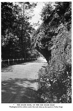 Pennsylvania Route 320 - Hanging Rock on what is now PA 320 in Gulph Mills, c. 1919
