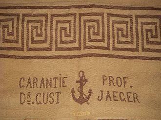 Gustav Jäger (naturalist) - Detail of a rough wool blanket circa 1890