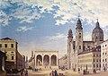 Gustav Seeberger - Feldherrnhalle mit Theatinerkirche München.jpg