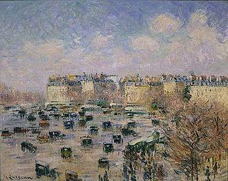 Paris between the Wars (1919–1939) - The Place de l'Etoile in 1929, by Gustave Loiseau