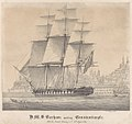 H.M.S. Barham quitting Constantinople With Sir Stratford Canning on bd. 12th August 1832 RMG PY0782.jpg