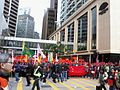 HKFTU Chater Road 香港各界慶典委員會 red flag Mandarin Oriental hotel Jan-2013.jpg