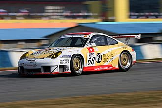 Matthew Marsh (racing driver) - Matthew Marsh and Darryl O'Young's Porsche 911 GT3 racing in the FIA GT Championship at Zhuhai in 2005.