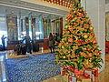 HK 西環 Sai Ying Pun 水街 Water Street 167 Connaught Road West 香港萬怡酒店 Courtyard by Marriott Hong Kong hotel lobby hall interior visitors Xmas tree Jan-2014.JPG