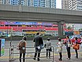 HK 觀塘道 bus stop visitor passengers queue evening April 2013.JPG