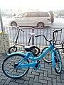 HK Tiu Keng Leng 景嶺路 King Ling Road 翠嶺路 Chui Ling Road blue shared bicycle parking AM Jan-2018 Lnv2.jpg