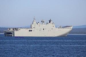 HMAS Adelaide (L01) - Image: HMAS Adelaide JAN 2016