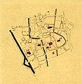 HUA-212087-Plattegrond van het midden gedeelte van de binnenstad van Utrecht met weergave van het stratenplan en aanduiding van de kapittelkerken en hun immunite.jpg