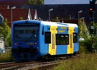 Hohenzollerische Landesbahn - Radwander-Shuttle of the HzL in Balingen
