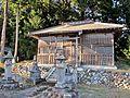Haiden of Sakamine-jinja shrine in Kashima ward.JPG