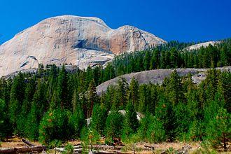 Little Yosemite Valley - Half Dome from Little Yosemite Valley