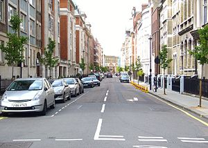 Hallam Street - View of Hallam Street in Marylebone, London