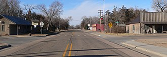 Halsey, Nebraska - Halsey, looking westward along Nebraska Highway 2