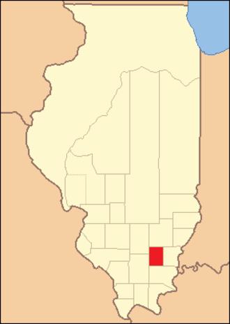 Hamilton County, Illinois - Image: Hamilton County Illinois 1821