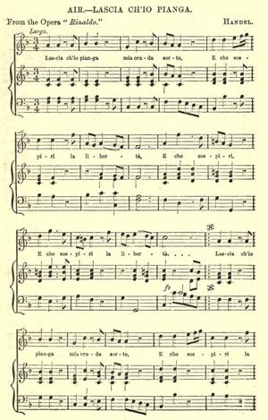 Lascia ch'io pianga - Image: Handel, Rinaldo Aria, 1876