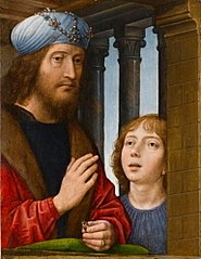 King David and a boy