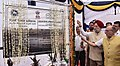 Hardeep Singh Puri along with the Lt. Governor of Delhi, Shri Anil Baijal laying the foundation stone of the In-situ Slum Redevelopment project in Kathputli Colony, New Delhi.JPG