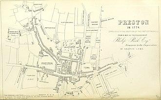 Preston, Lancashire - Preston in 1774
