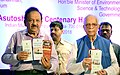 Harsh Vardhan along with the Governor of West Bengal, Shri Keshari Nath Tripathi releasing the pamphlet at the inauguration of the renovated Zoological and Botanical galleries, at Indian Museum, in Kolkata.JPG