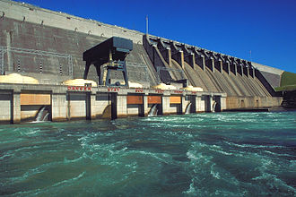 Hartwell Dam - Hartwell Dam water-control and power-generation structure