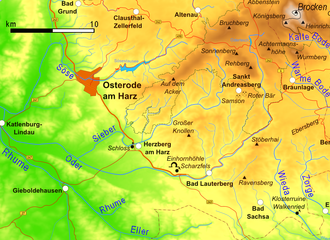 Sieber (river) - The southwestern Harz with the Sieber river
