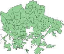 Position of Munkkisaari within Helsinki