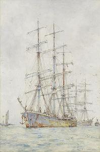 Henry Scott Tuke - Windjammers at anchor.jpg