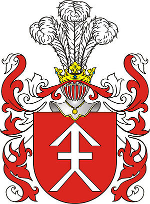 Lithuanian nobility - Coat of arms with crossed arrows come from ancient times, like Kościesza coat of arms