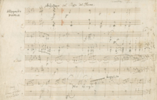 Manuscrit des Variations Eroica (1802)