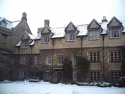 Hertford College, Oxford; Old Quadrangle Hertford college Old Quadrangle under the snow.jpg