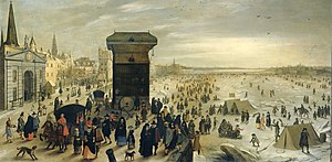 Sebastiaen Vrancx - Ice pleasure on the Scheldt in Antwerp