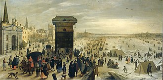 Sebastiaen Vrancx - Ice pleasure on the Scheldt in Antwerp