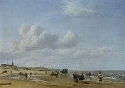 Het Strand van Scheveningen, Adriaen van de Velde (1658)