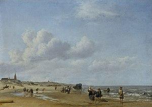 Adriaen van de Velde - The beach at Scheveningen, painted 1658. Oil on canvas. Staatliche Museen, Kassel
