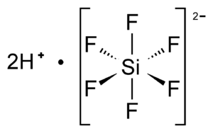 Hexafluorosilicic acid - Image: Hexafluorosilicic acid molecular structure