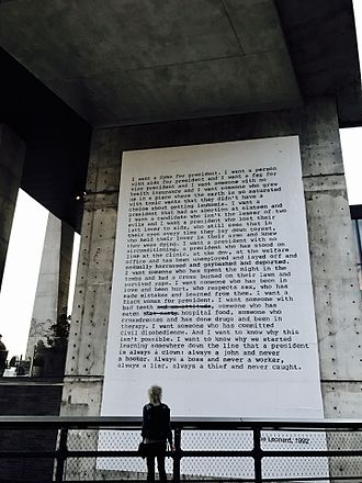 Zoe Leonard - Leonard poem at the Highline, NY