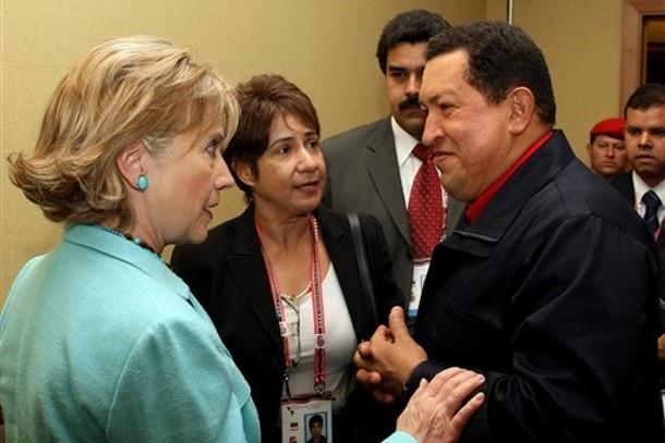 Hillary Clinton and Hugo Chavez