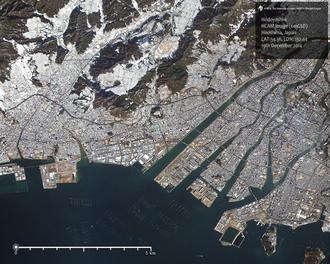 Hodoyoshi 4 - Hiroshima Japan, taken by Hodoyoshi-4 Satellite