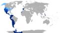 Hispanophone global world map language.png