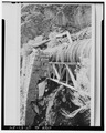 Historical photo of truss and retaining wall for wood stave pipe - Ogden Canyon Conduit, Ogden, Weber County, UT HAER UTAH,29-OGCA,2-24.tif
