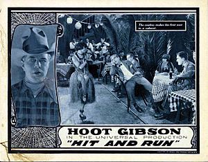 Hit and Run (1924 film) - Lobby card