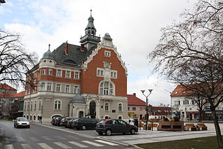 Hodonín Town in South Moravian, Czech Republic