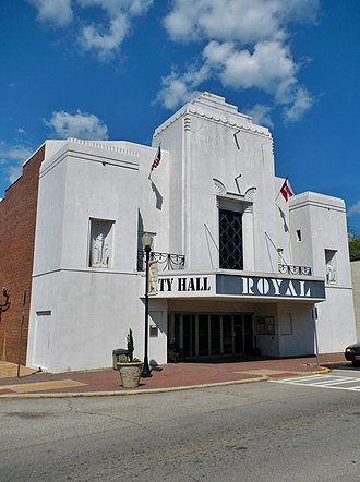 Hogansville, Georgia - Image: Hogansville, GA City Hall (Royal Theater)